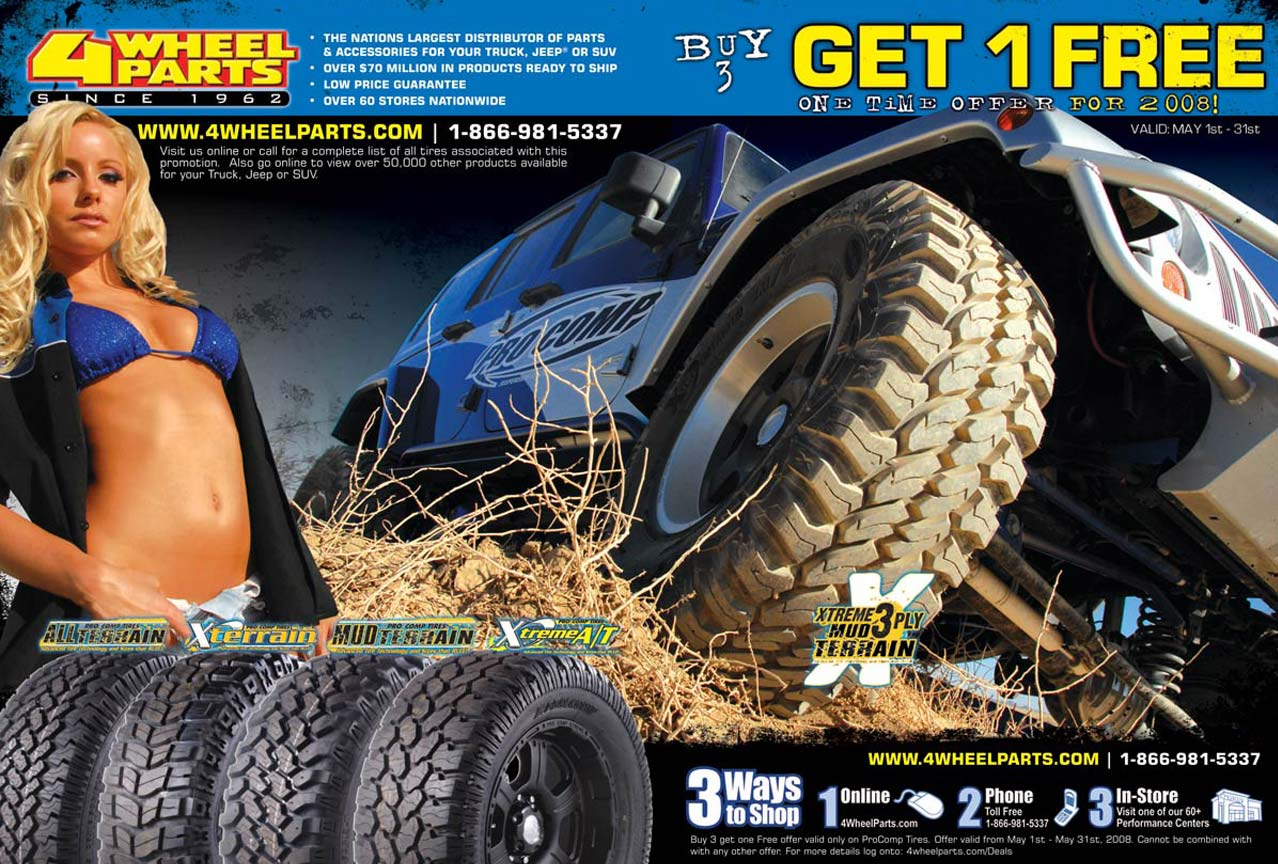 4 Wheel Parts 2 Page Spread Ad Design By A Digital Mind