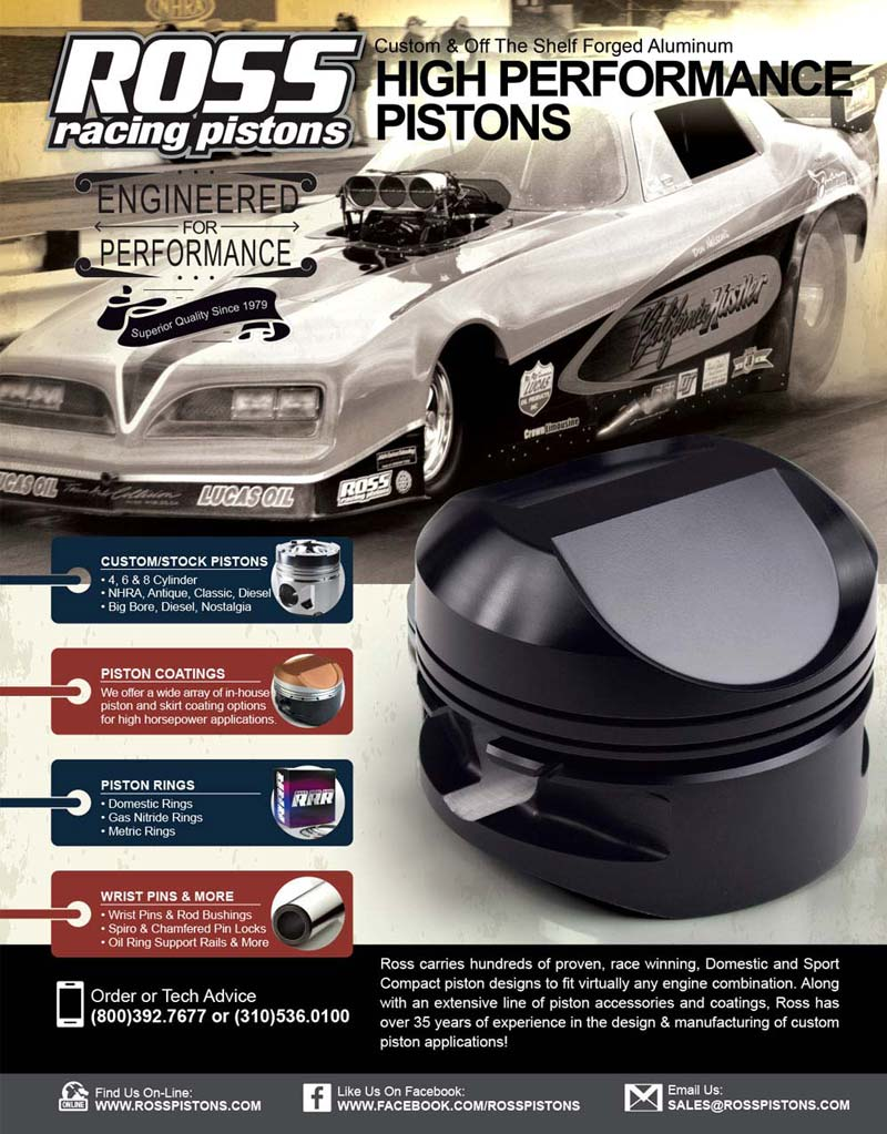 Ross Racing Pistons Full Page Ad Design By A Digital Mind