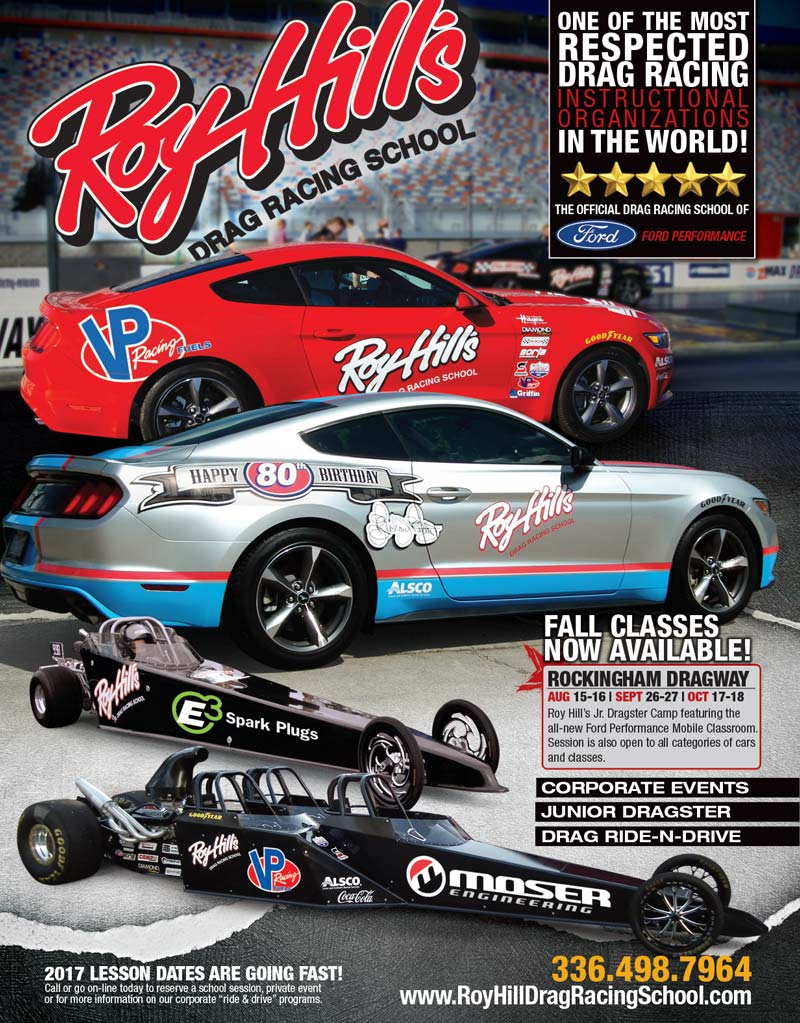 Roy Hills Drag Racing School Ad Design By A Digital Mind