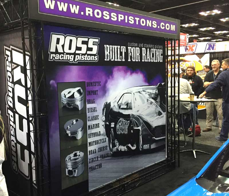 Ross Racing Pistons Sema Pri Tradeshow Booth Display Designed By A Digital Mind