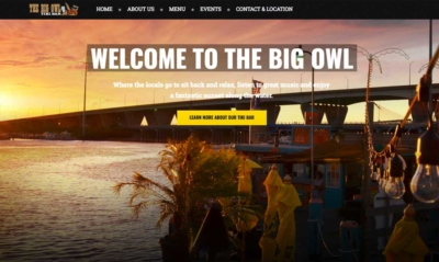 The Big Owl Grasonville Maryland Website Design