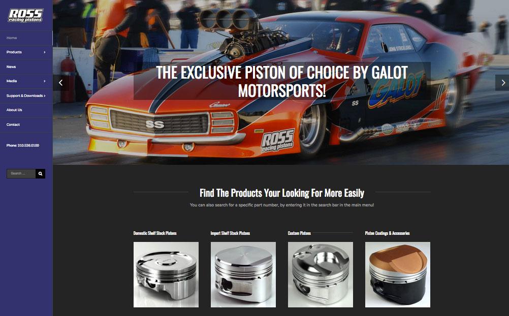 Ross Racing Pistons El Segundo Ca Website Design By A Digital Mind Maryland