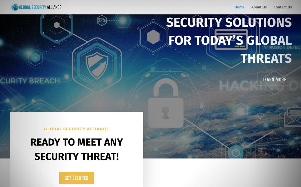 Global Security Alliance Maryland Website Design By A Digital MInd