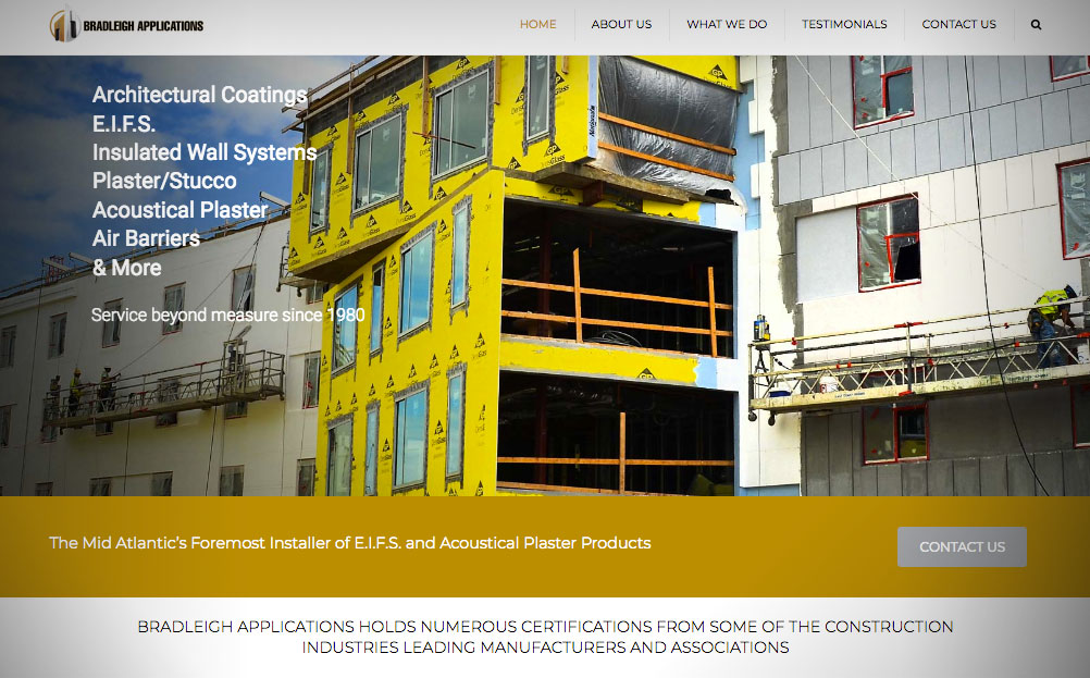 Bradleigh Applications Crofton Maryland Website Design By A Digital Mind