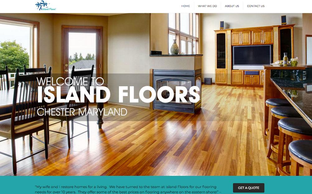 Island Floors Chester Maryland Website Design By A Digital Mind