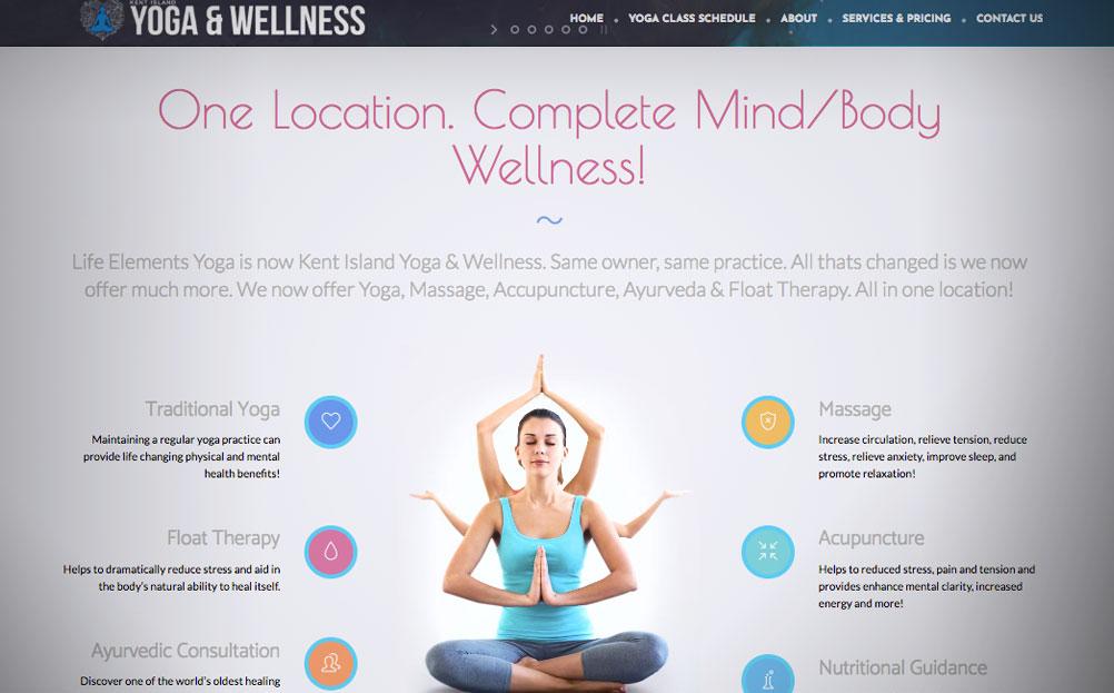 Kent Island Yoga And Wellness Life Elements Yoga Website Design By A Digital Mind