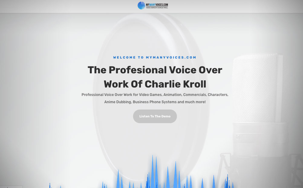 My Many Voices Voiceover Work Website Design By A Digital Mind